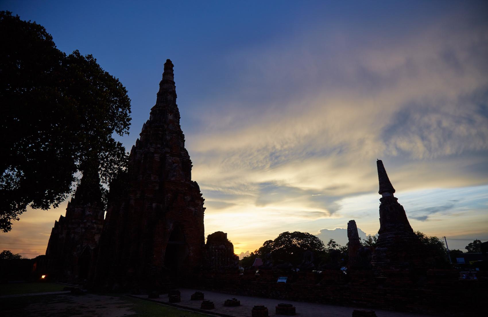 Wat Chai Watthanaram Sunset